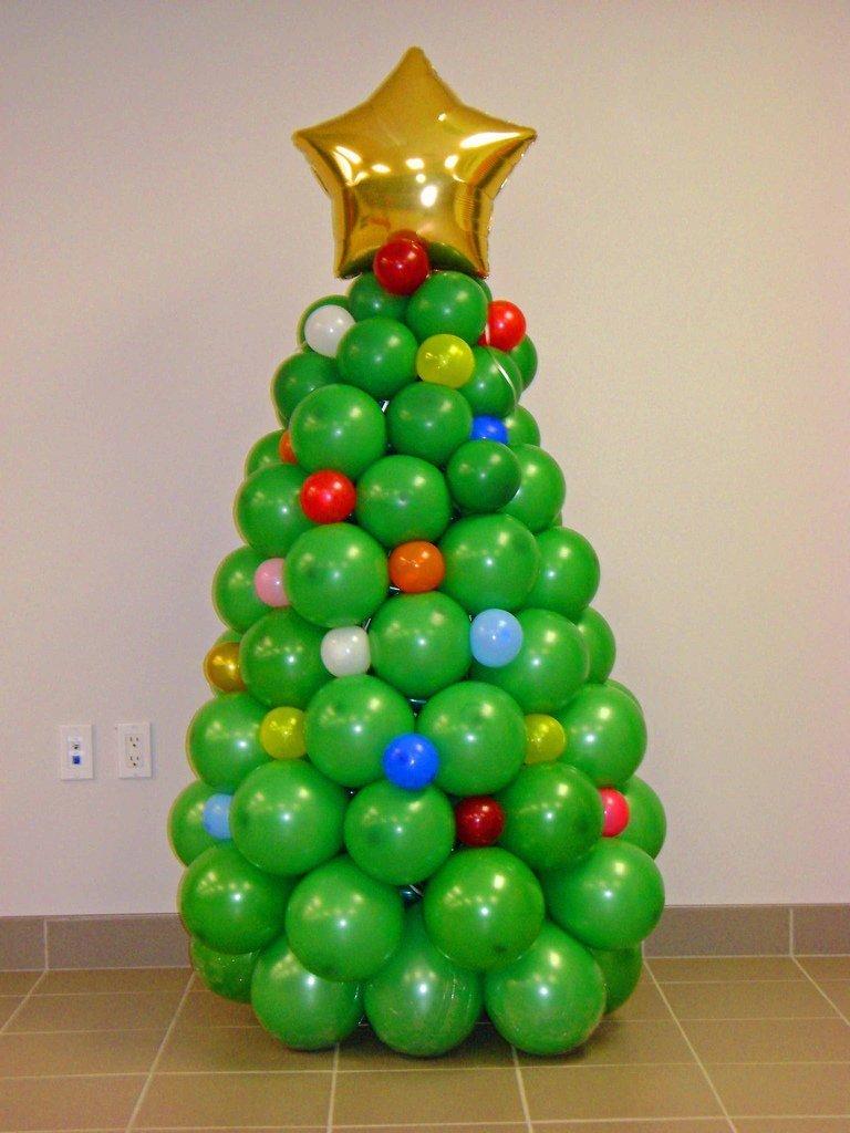 Елка воздушных шаров своими руками фото