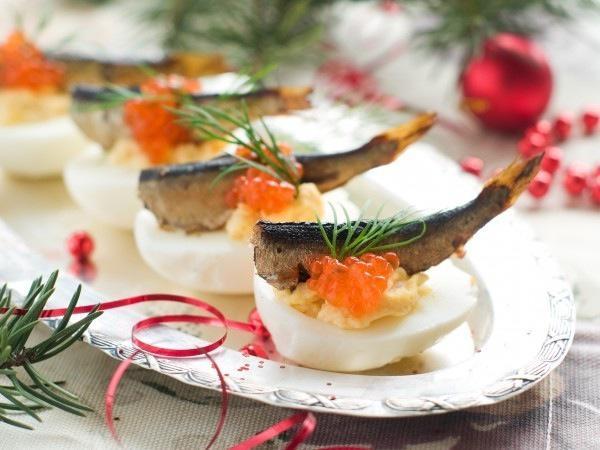 новогодние закуски с икрой с фото